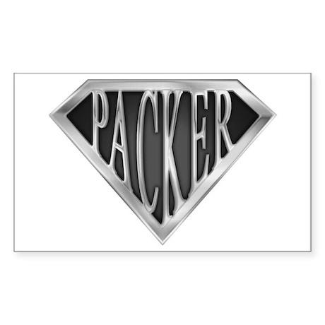 SuperPacker(metal) Rectangle Sticker