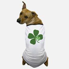 Green 4-Leaf Clover Dog T-Shirt