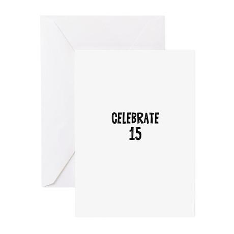 Celebrate 15 Greeting Cards (Pk of 10)