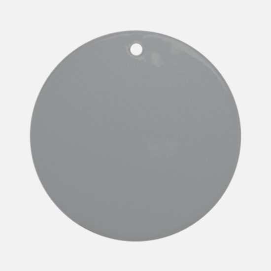 Heather Gray Solid Color Round Ornament