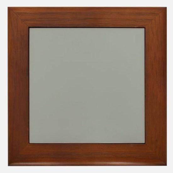 Heather Gray Solid Color Framed Tile