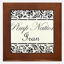 Pimp nation Iran Framed Tile