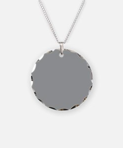 Heather Gray Solid Color Necklace