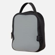 Heather Gray Solid Color Neoprene Lunch Bag