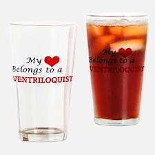 My heart belongs to a Ventriloquist Drinking Glass
