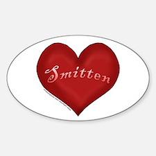 Smitten Valentine Design Oval Decal