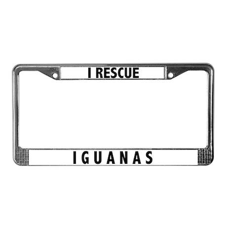 I Rescue Iguanas License Plate Frame