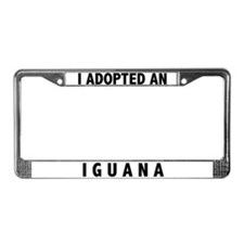 I Adopted An Iguana License Plate Frame