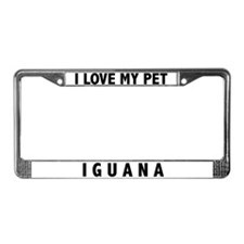 I Love My Pet Iguana License Plate Frame