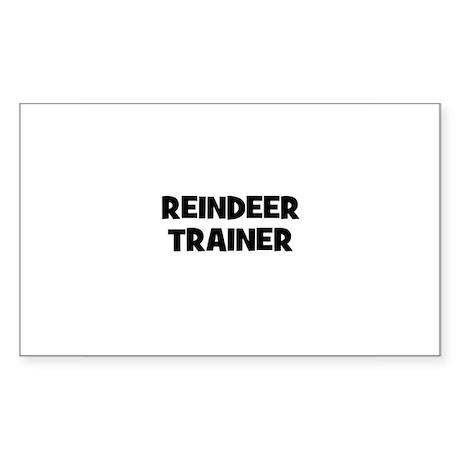 Reindeer trainer Rectangle Sticker