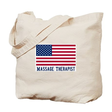 Ameircan Massage Therapist Tote Bag
