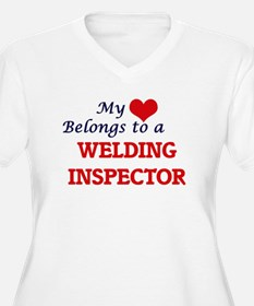 My heart belongs to a Welding In Plus Size T-Shirt