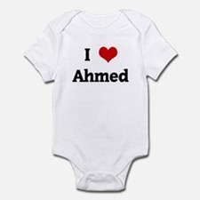 I Love Ahmed Infant Bodysuit