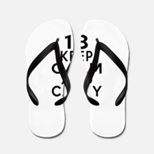 18 Keep Calm And Carry On Birthday Flip Flops