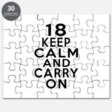 18 Keep Calm And Carry On Birthday Puzzle