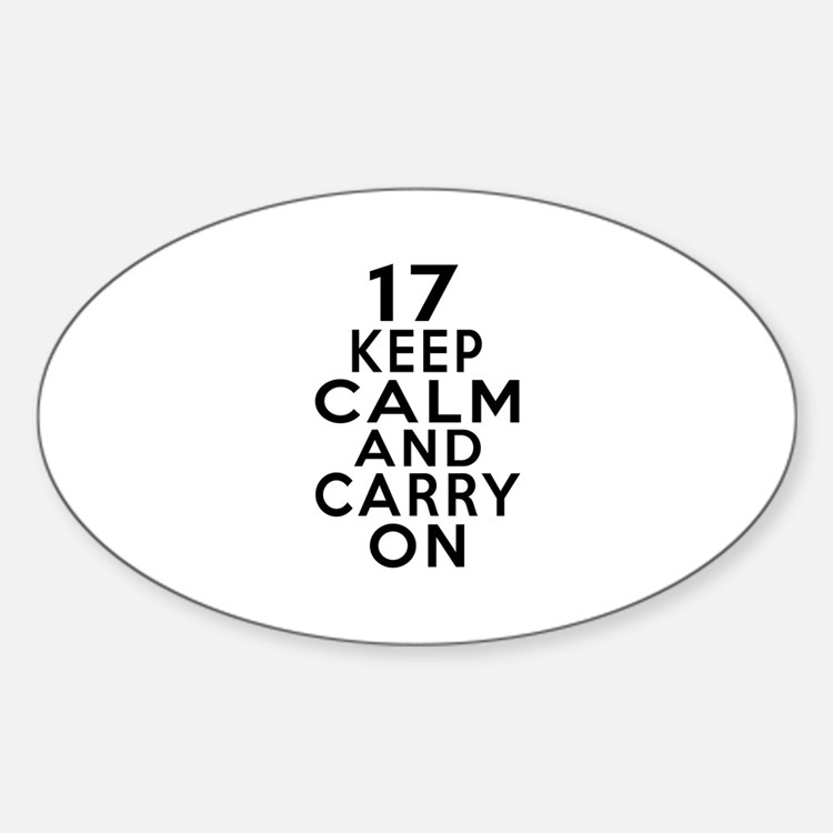 17 Keep Calm And Carry On Birthday Decal