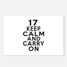 17 Keep Calm And Carry On Postcards (Package of 8)