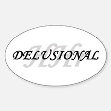 Delusional Oval Decal