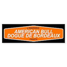 AMERICAN BULL DOGUE DE BORDEAUX Bumper Bumper Sticker