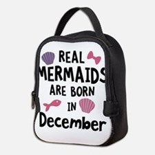 Mermaids are born in February C Neoprene Lunch Bag