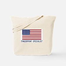 Ameircan Fingerprint Speciali Tote Bag