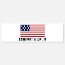 Ameircan Fingerprint Speciali Bumper Bumper Bumper Sticker