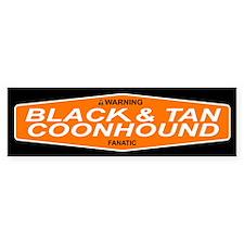 BLACK TAN COONHOUND Bumper Car Sticker