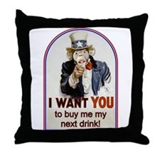 Buy Me a Drink Throw Pillow