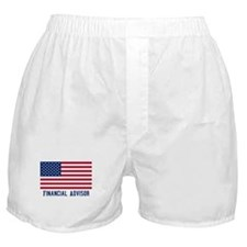 Ameircan Financial Advisor Boxer Shorts
