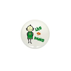 Irish Stepdancer-Live To Dance Mini Button (100 pa