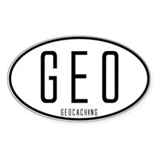 Geocaching Auto Decal Oval Decal