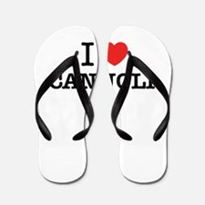 I Love CANNOLI Flip Flops
