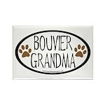 Bouvier Grandma Oval Rectangle Magnet (10 pack)