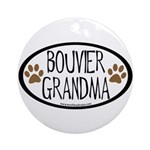 Bouvier Grandma Oval Ornament (Round)