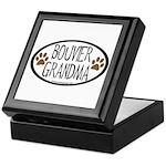 Bouvier Grandma Oval Keepsake Box
