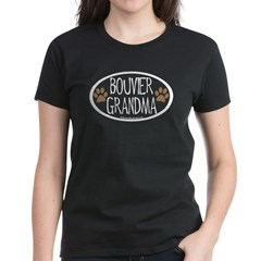 Bouvier Grandma Oval Women's Dark T-Shirt