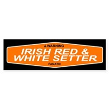 IRISH RED WHITE SETTER Bumper Bumper Sticker