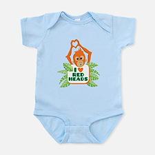 I love (heart) redheads baby orangutan Body Suit