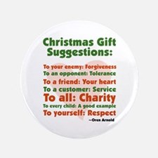 """Christmas Gift Suggestions 3.5"""" Button"""