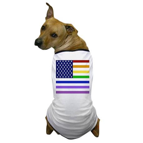 rainbow flag USA Dog T-Shirt
