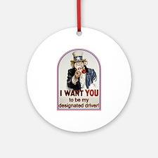 Designated Driver Ornament (Round)
