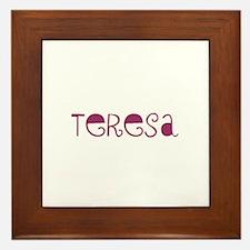 Teresa Framed Tile