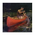 Canoing Tile Coaster