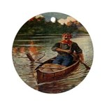 Old Canoe  Ornament (Round)