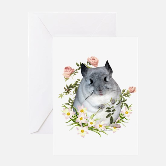 Chin with Rose Greeting Card