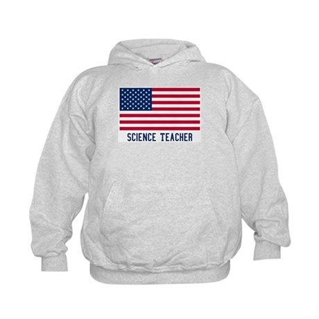 Ameircan Science Teacher Kids Hoodie