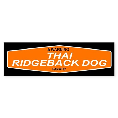 THAI RIDGEBACK DOG Bumper Sticker