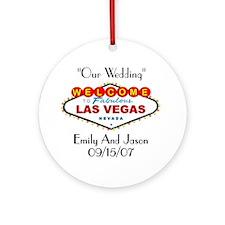 Las Vegas Our Wedding Ornament (Round)