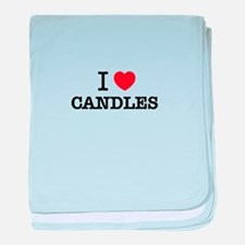 I Love CANDLES baby blanket