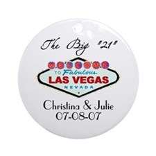 Las Vegas 21st Birthday Ornament (Round)